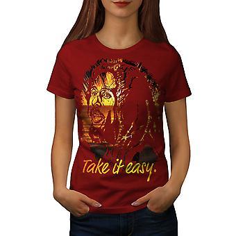 Take it Easy Marley Rasta Women RedT-shirt | Wellcoda