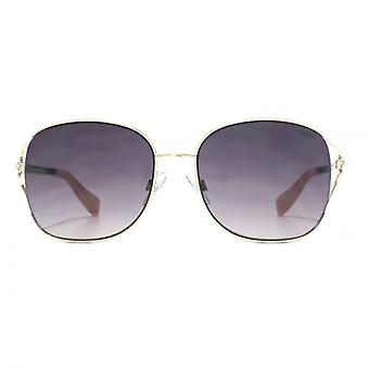 SUUNA Heidi Cutaway Detail Sunglasses In Gold