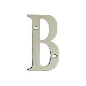 UAP House Door Letters - Chrome Letter B