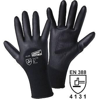 worky 1152 MICRO black polyamide PU-partial coated fine-knitted gloves 100 %