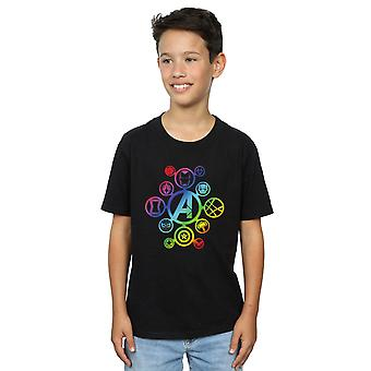 Marvel Boys Avengers Infinity War Rainbow Icons T-Shirt