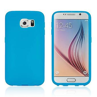 Design Cover with Front Cover Light Blue for Samsung Galaxy S6 G920 G920F