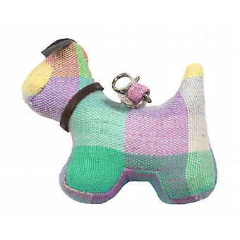 Elma Check Dog Bag or Key Charm by Monica Richards