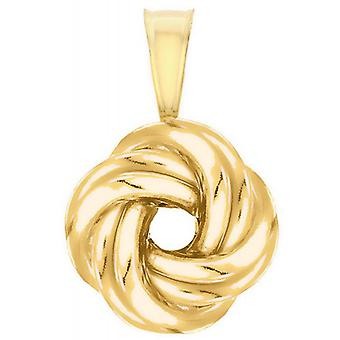 IBB London Polished Knot Pendant - Gold