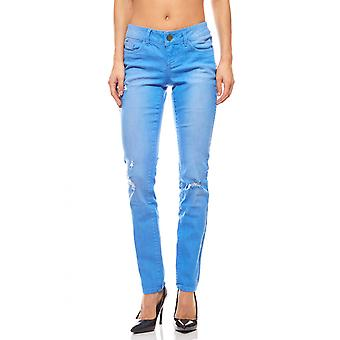 AjC skinny jeans for women short size summer blue