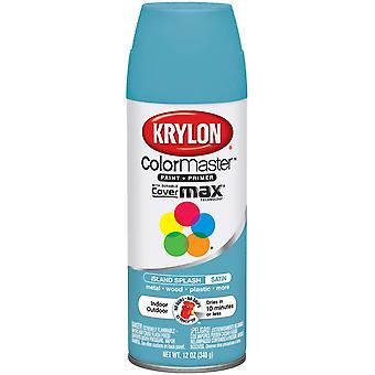 Colormaster Indoor/Outdoor Aerosol Paint 12oz-Satin Island Splash
