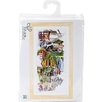 Japan On Aida Counted Cross Stitch Kit-31