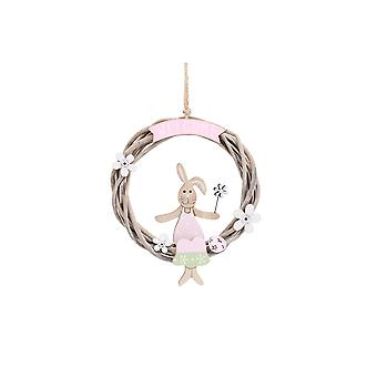CGB Giftware Bunny Welcome Round Sign