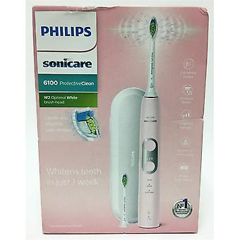 Philips Sonicare ProtectiveClean 6100 elektrisk tannbørste HX6876/29 pastell rosa (UK 2-pins bad Plug)
