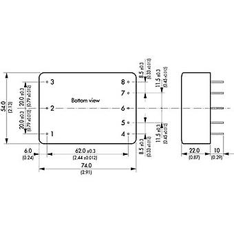 Alimentation AC/DC (impression) TracoPower TML 15215 15 VDC 0,5 A 15 W