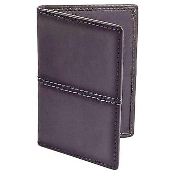 Dents Casual Leather Credit Card Holder - Slate Grey