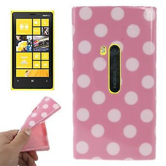 Beschermende case TPU punten van zaak voor mobiele Nokia Lumia 920 pink