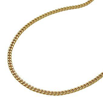 Ketting schelp ketting, ketting 50 cm, 9 KT goud 375