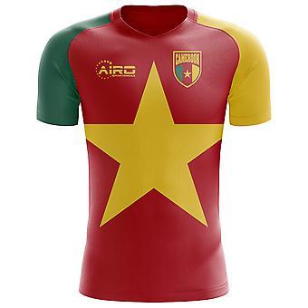 2018-2019 الكاميرون العلم مفهوم كرة القدم قميص