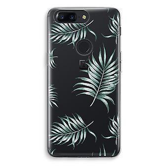 OnePlus 5T Transparent Case (Soft) - Simple leaves