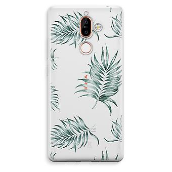 Nokia 7 Plus Transparent Case (Soft) - Simple leaves