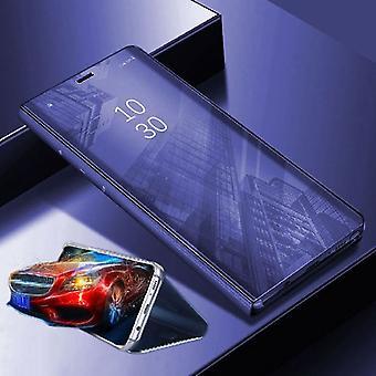 Per Xiaomi POCO Pocofone F1 visione chiara specchio specchio copertura intelligente viola copertura custodia custodia borsa caso nuovo caso sveglia funzione