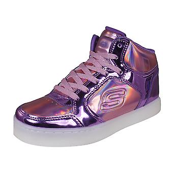 Skechers S Lights Engergy Lights Girls Trainers / Hi Tops - Pink and Purple