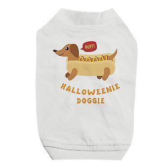 小型犬用 Halloweenie わんわん白ペットのシャツ