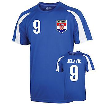 Croatie Entraînement sportif Jersey (Jelavic 9)