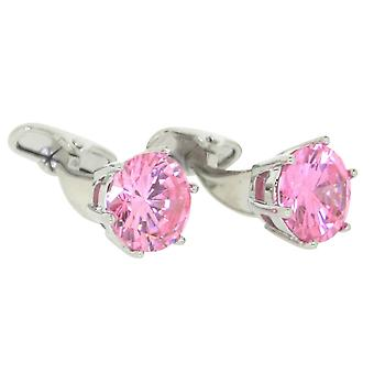 Posh and Dandy Crystal Cufflinks - Pink