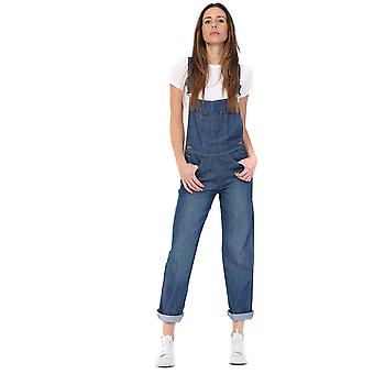 USKEES Regular Fit Lightwash Denim Dungarees Ladies Bib-Overalls