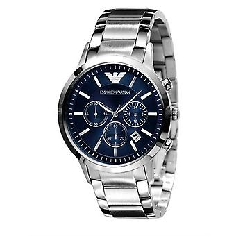Emporio Armani Mens' Chronograph Watch - AR2448 - Blue/Steel