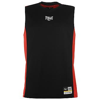 Everlast Mens Basketball Jersey V Neck Sleeveless Sports Training Athletic Top