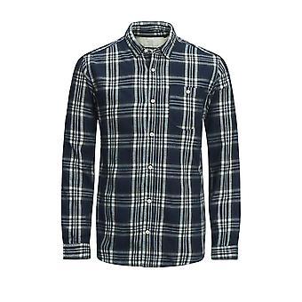 Jack y Jones Mens Org Chris LS Long manga camisa Casual