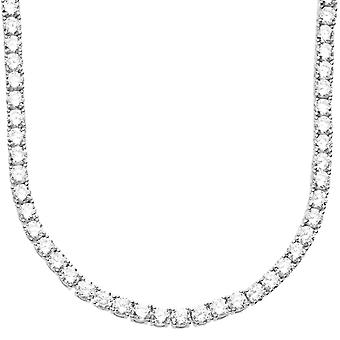 Premium bling - Sterling 925 Silver CZ necklace 4mm