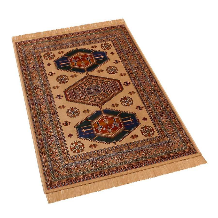 Traditional Afghan Kazak Artificial Faux Silk Effect Rugs 9379/4 100 x 140cm
