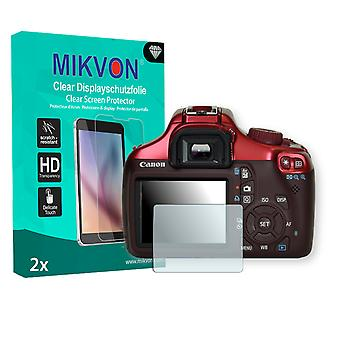 Canon EOS Kiss X50 Screen Protector - Mikvon Clear (Retail Package with accessories)