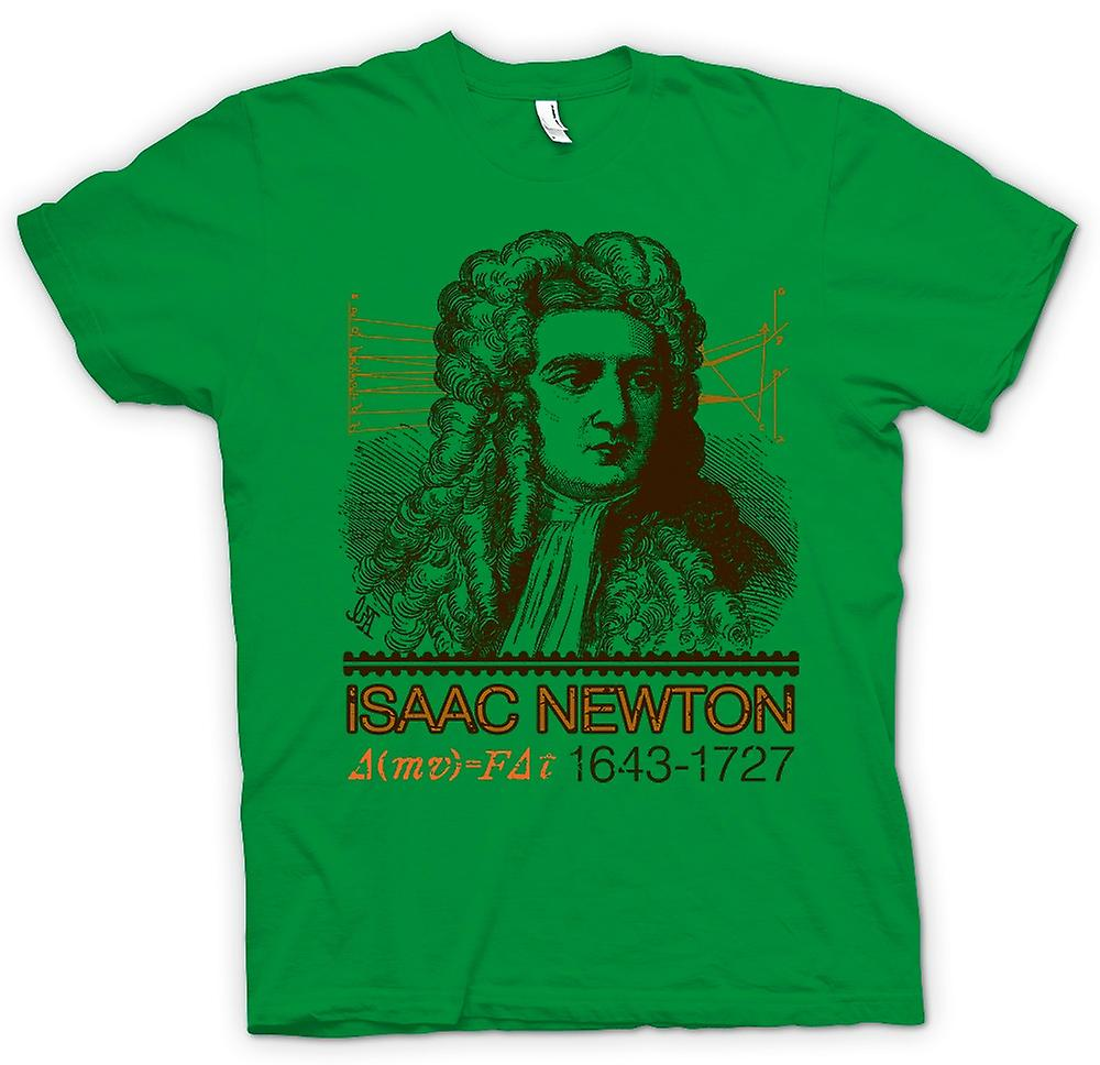 Heren T-shirt - Isaac Newton wetenschapper 1643-1727 - pictogram