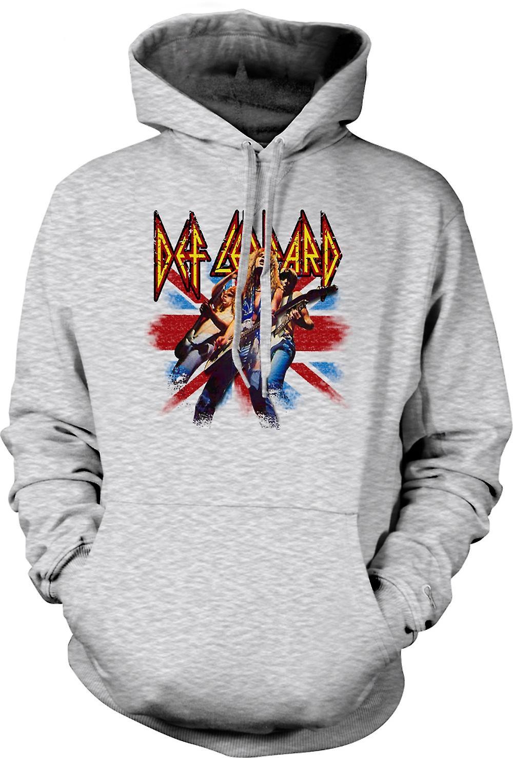 Mens hettegenser - Def Leppard - britisk Rock