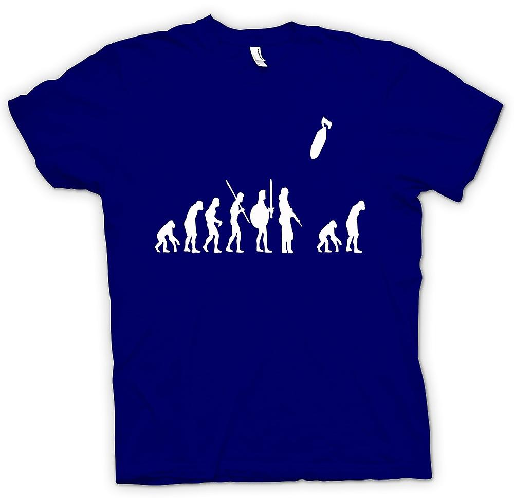 Mens T-shirt - Mans Evolution Of War & Life