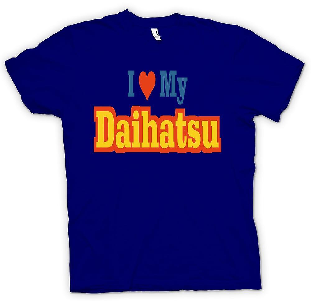 Heren T-shirt - Ik hou van mijn Daihatsu - auto liefhebber