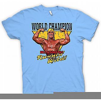 Mens T-shirt - World Champion - Hulk Mania Running Wild