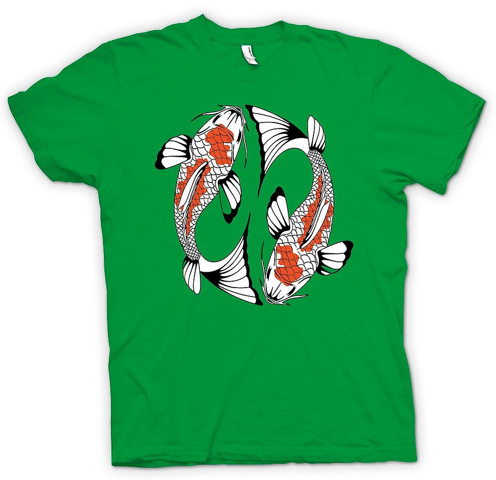 Mens t-shirt-carpa Koi pesce fresco