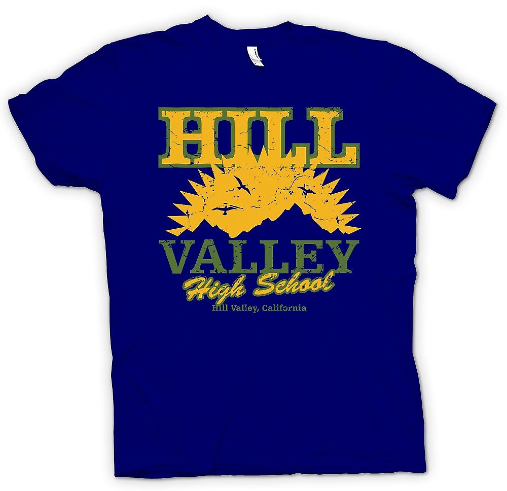 Mens T-shirt - Hill Valley High School - Back to The Future Inspired