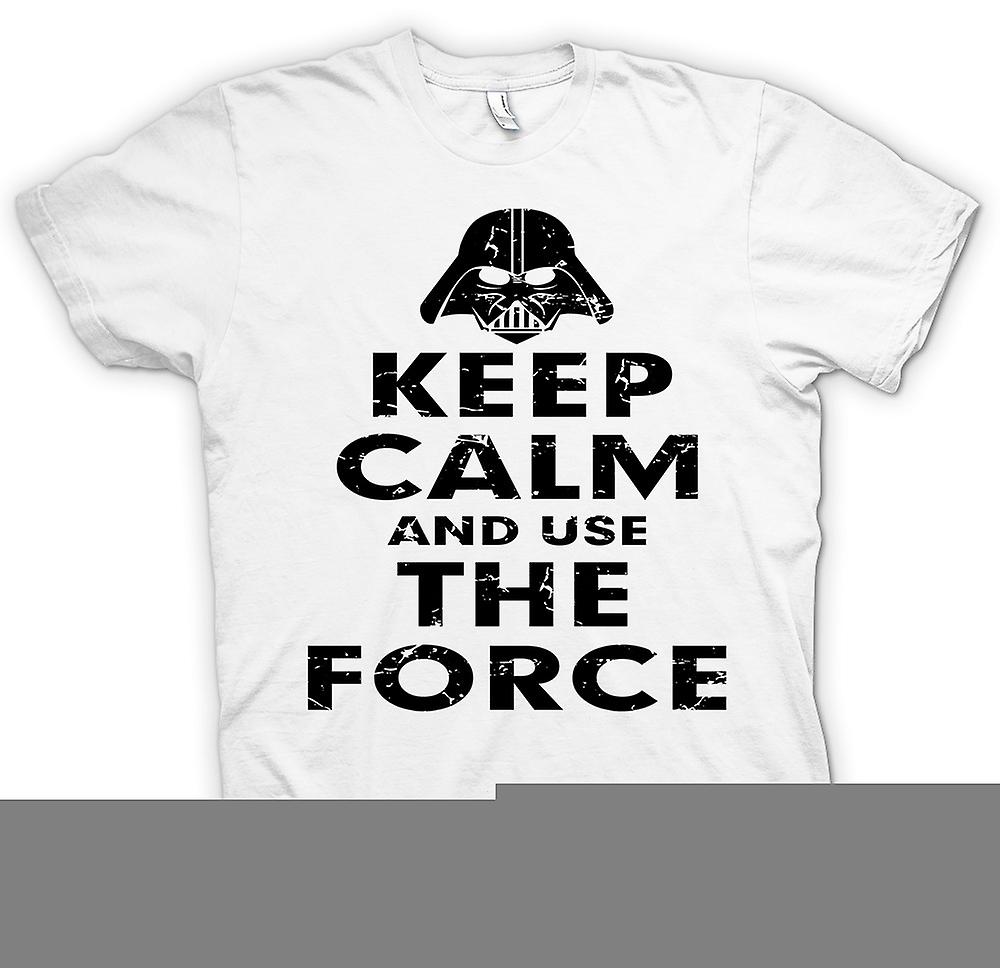 Womens T-shirt - Keep Calm And Use The Force - Star Wars Inspired