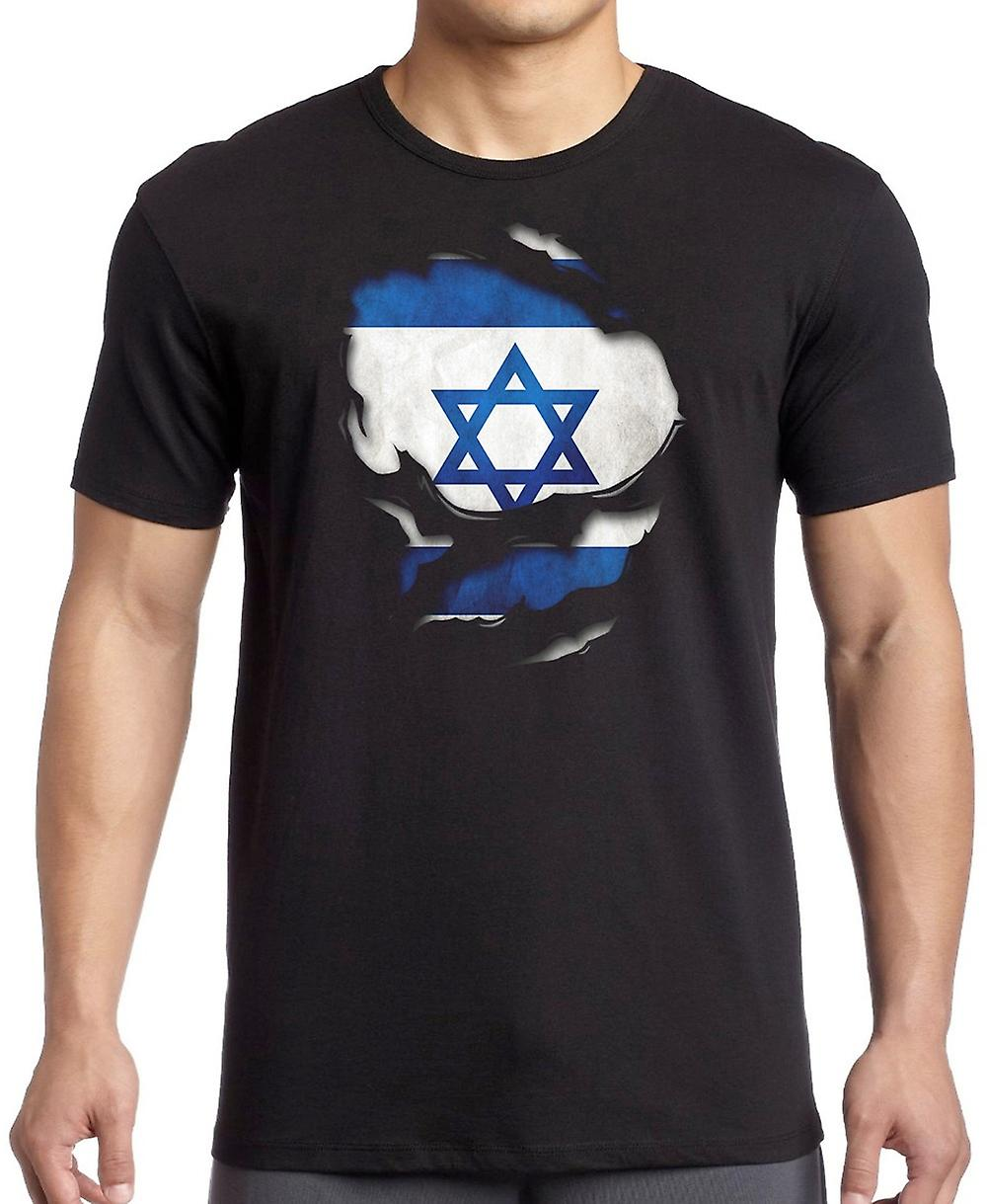 Isreali Isreal Ripped Effect Under Shirt Kids T Shirt