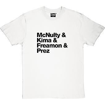 McNulty & Kima & Freamon & Prez Männer T-Shirt
