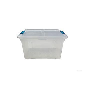 1 x 32 liters förvaringsbox och lock med klipp förvaringsmöbler