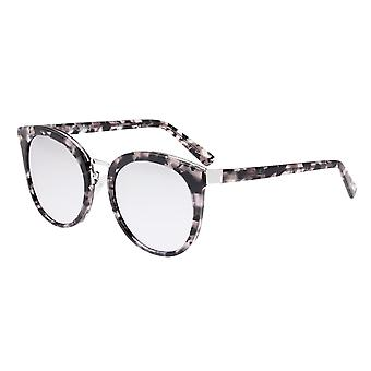 Bertha Lucy Polarized Sunglasses - Silver Tortoise/Silver