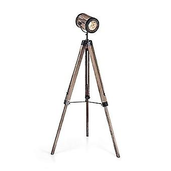 Ideal Lux - Torchio Natural Wood Adjustable Large Floor Lamp On Tripod IDL133959