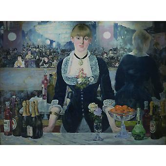 En Bar i Folies Bergere, Edouard Manet, 50x37cm