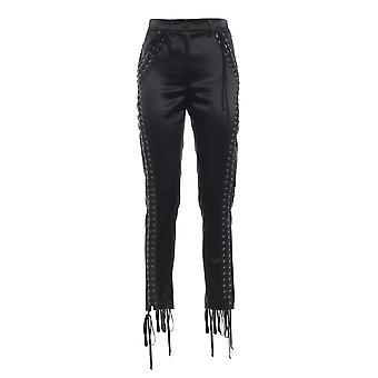 Dolce E Gabbana Black Silk Pants