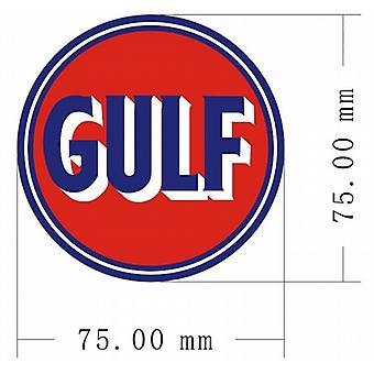 Pair (2) of Gulf vinyl peel off decals / stickers    (ff)