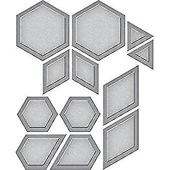 Spellbinders Hexagon Quilt Etched Die Shapeabilities (S4-794)