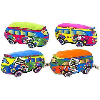 Hippiebuss Peace Happy Plush Figure Gosedjur Plysch Mjukis 25cm